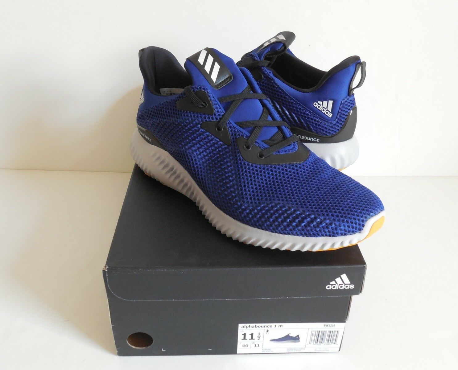 Adidas BW1219 Alphabounce 1 Running Men's Shoes Size 11.5 New