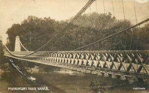 Dresden-Ohio-Original-Suspension-Bridge-C-1910-RPPC-real-photo-postcard-10814