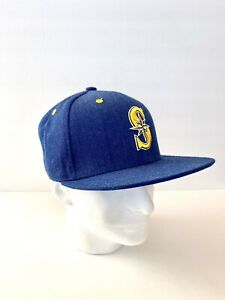 Seattle-Mariners-Native-American-SnapBack-Hat-EQC-Melonwear-Blue-Yellow-White