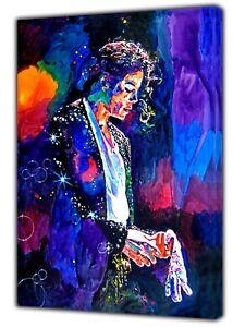 Final Performance Michael Jackson Photo Impression Couleur Sur Encadrée Toile Wall Art-afficher Le Titre D'origine Excellente Qualité