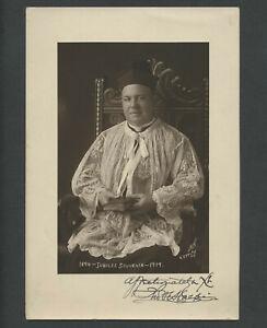 New York City NY: 1919 Photograph Episcopal or Catholic Bishop Signed Photograph