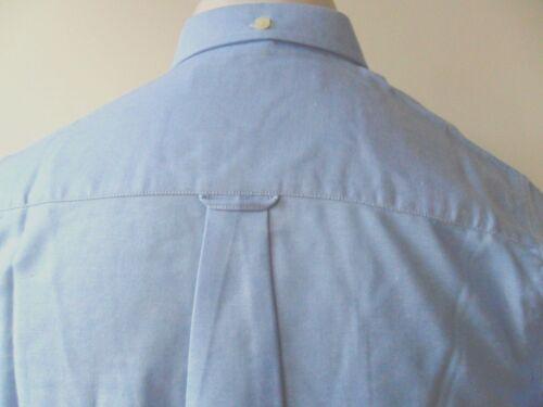 BEN SHERMAN Youth Long Sleeve Plain Oxford Shirt BSFYA24 Sky Blue S M