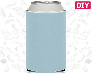 Details about  /Blank Koozies 25 Cerulean Blue Coozies Lot Can Coolers DIY Embroidery