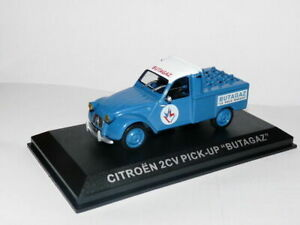 PIT72-1-43-IXO-Altaya-Vehicules-d-039-epoque-FRANCE-CITROEN-2CV-pick-up-BUTAGAZ