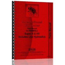 International Mccormick Farmall Super H Hv Tractor Parts Manual Catalog