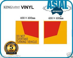 Special-40cm-Vinyl-Do-Not-Overtake-Turning-Vehicle-Sign-Truck-sticker