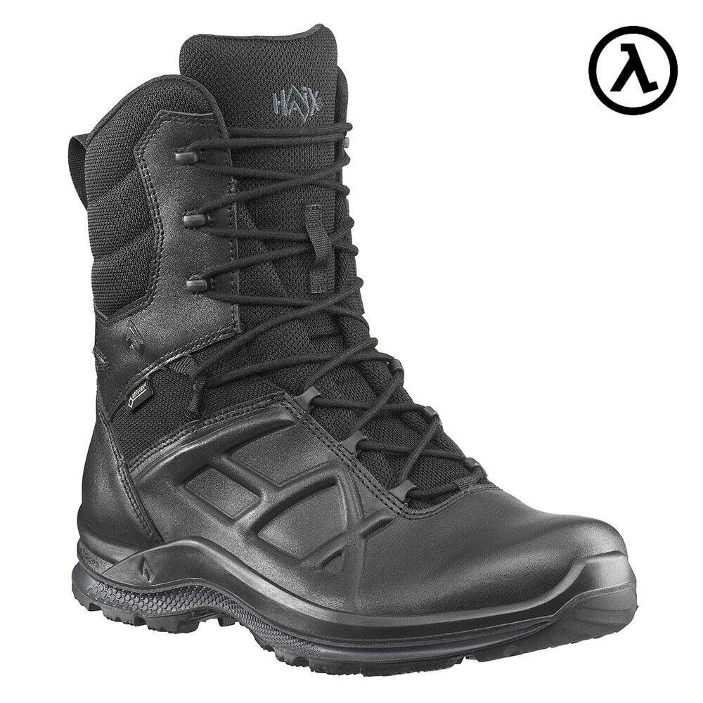 HAIX NEGRO EAGLE TACTICAL 2.0 GTX alta Lateral Cremallera botas 340021  todos Los Tamaños-Nuevo