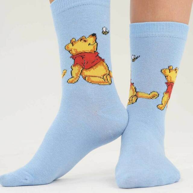 2ff734922 Womens Winnie The Pooh Eeyore and Piglet Novelty Socks Assorted ...
