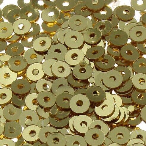 2400 paillettes 3mm Marrone Oro Tondo Liscio Perle realizzerà cucire Best Decorazione pai28