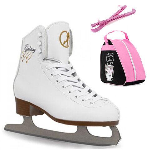 Skates SFR White Galaxy Girls Figure Ice Skate Package Penguin Bag /& Guards