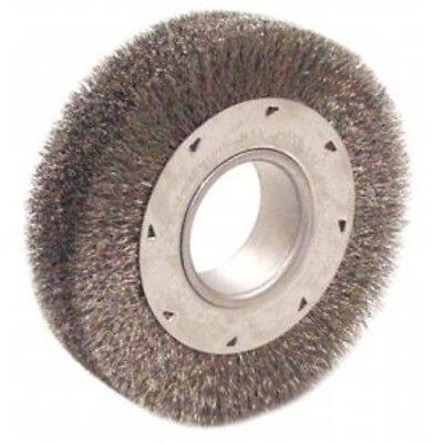 "6/"" Heavy Duty CrimpedWire Wheel BrushWide Face Anderson Brand xx"