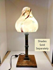 VINTAGE ART DÉCO ARTS & CRAFT Mission Lampe 1900-1940 Art Glass Shades en option 2008