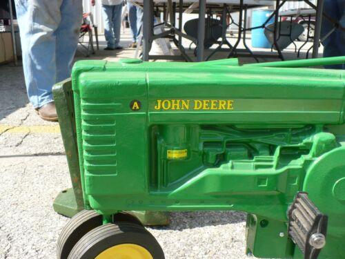 "/""A/"" DECAL SET John Deere 1990s Pedal Tractor Computer Cut Free Ship  JP109"