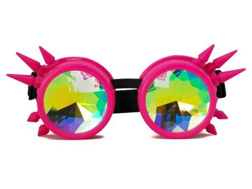 Steampunk Kaleidoscope Diffraction Goggles Glasses Sunglasses Rave Costume Music