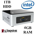 Intel NUC Mini PC / Quad Core / 4GB DDR3 / 1TB HDD / Windows 10 PRO / WIFI / UK