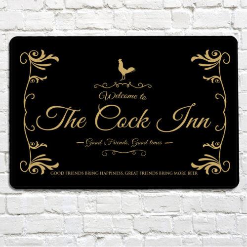 Le cock inn bar MAN CAVE en métal A4 Signe De Porte /& Out Door utilisation