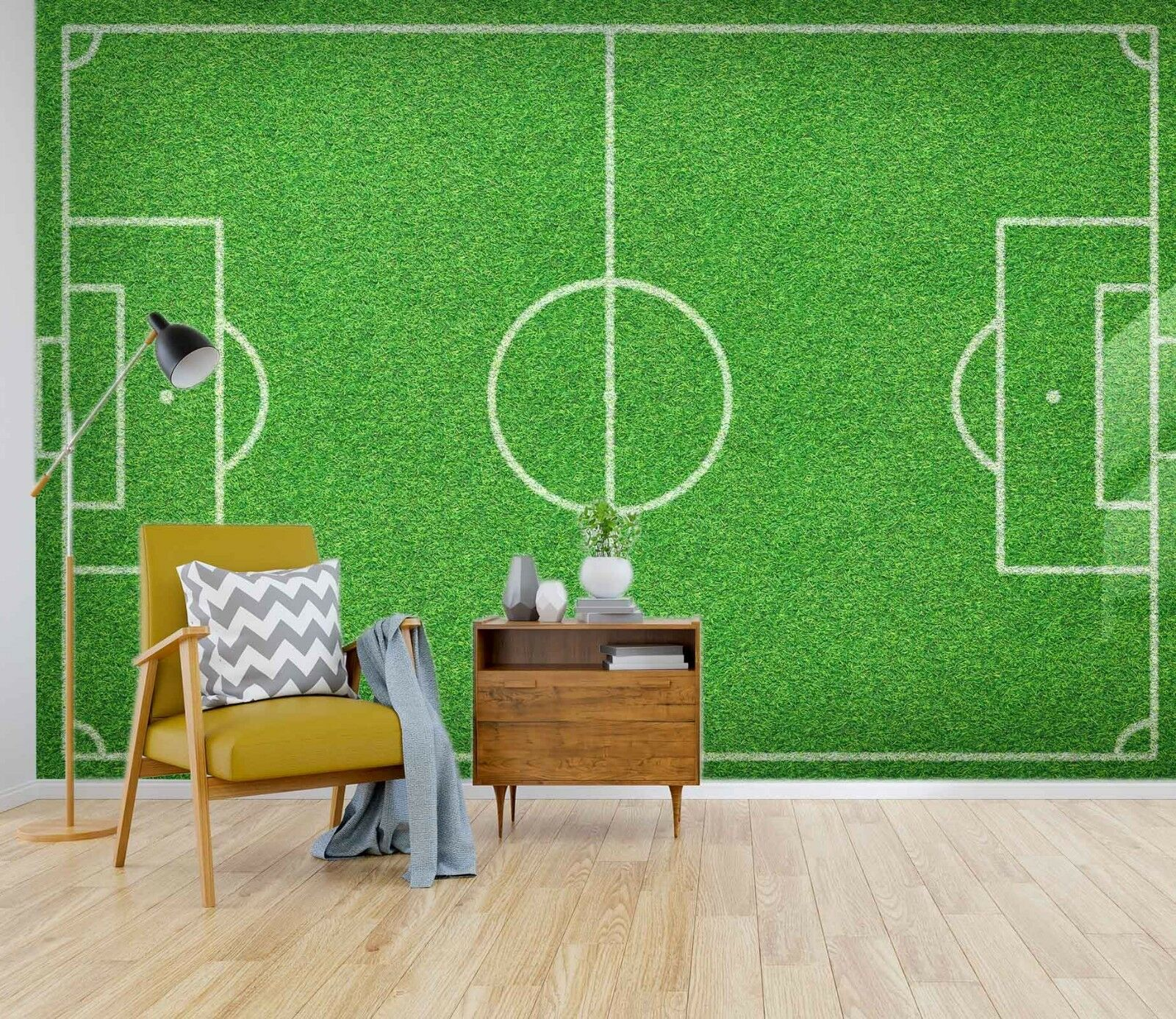 3D Football Field Meadow 45 Wall Paper Wall Print Decal Wall Deco Indoor Murals