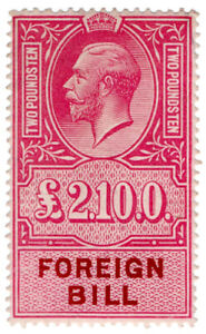 I-B-George-V-Revenue-Foreign-Bill-2-10-unmounted-mint