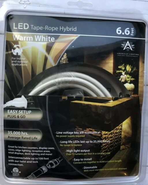 American Lighting 120 Tl60 6 Ww 3000k Warm White120 Volt Led Tape Rope Hybrid