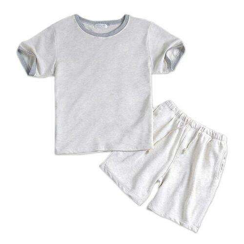 Summer Cotton White Male Short Pajama Set Short Sleeves Men Casual Sleepwear