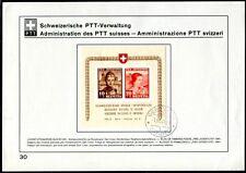 SCHWEIZ 1941 BLOCK6 FDC SAMMELBLATT TADELLOS 1700€(Z8122