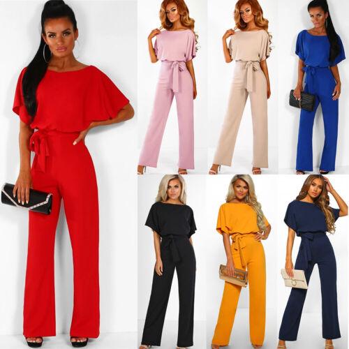 Womens Bandage Evening Party Playsuit Ladies Romper Long Jumpsuit Size 6-14 UK