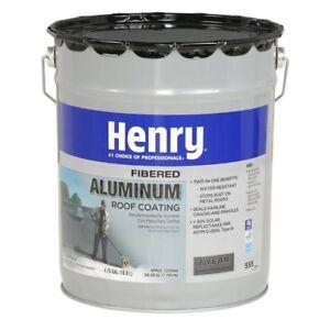 henry roof coating gallon aluminum seal leaks repair cracks rv mobile home 81725555709 ebay. Black Bedroom Furniture Sets. Home Design Ideas