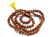 RUDRAKSHA  JAPA MALA ROSARY 108 +1 BEAD YOGA HINDU PRAYER MEDITATION NEPAL