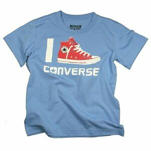 Converse-All-Star-Azul-Cool-Rojo-Hi-Top-Camiseta-Edad-3-A-13