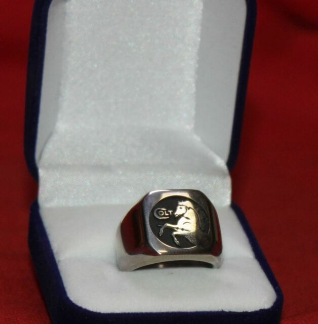 COLT FIREARMS Rampant Colt Stainless Steel Ring Size 11