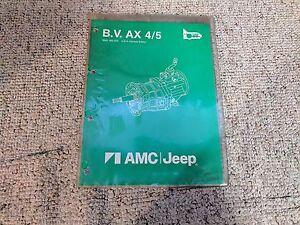 1988 Jeep Cherokee Ax4 Ax5 Transmission Service Repair Manual