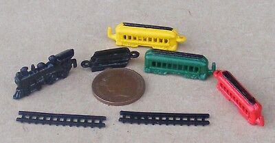 1:12 Scala 7 Pezzo Di Metallo Treno Set Casa Delle Bambole Accessorio In Miniatura Nursery Giocattolo-mostra Il Titolo Originale