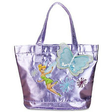 Disney Deluxe Tinker Bell Butterfly Metallic foil fabric tote bag Birthday gift