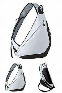 praktischer-Crossover-Body-Bag-Bodybag-Rucksack-Crossoverbag-Tasche-grau-NEU