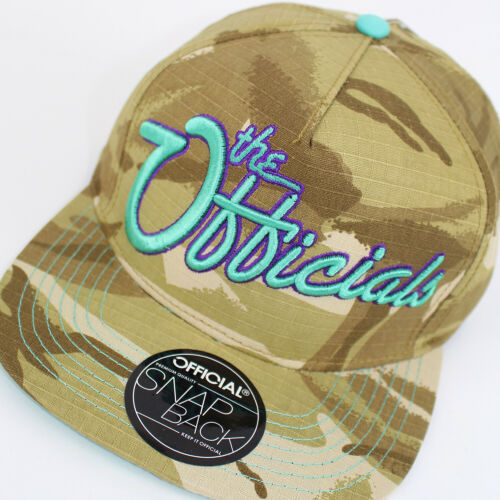 Official Snapback Camo the Officials Design Flat Baseball Cap