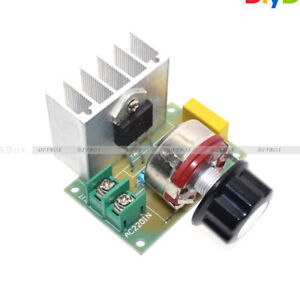 AC 220V 4000W SCR Voltage Regulator Dimmer Motor Speed Controller Module New