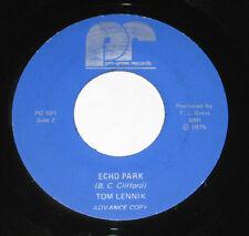 "Tom Lennik 7"" 45 DJ PROMO HEAR PRIVATE GARAGE ROCK Echo Park PRO-GRESS 1975"