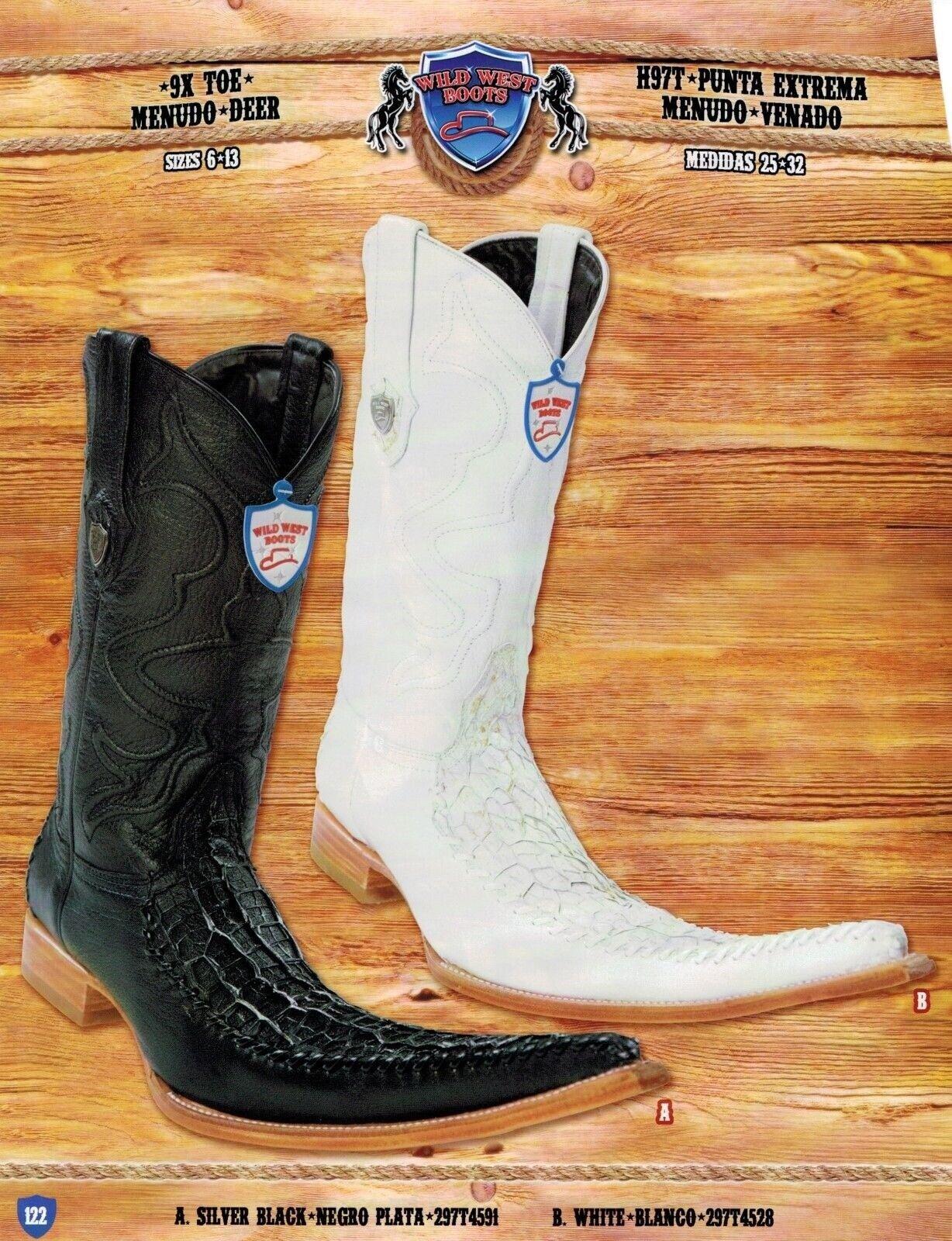 alta qualità genuina Wild West Uomo 9X-Toe Menudo Deer Cowboy Cowboy Cowboy Western stivali Diff. Colores  scelte con prezzo basso