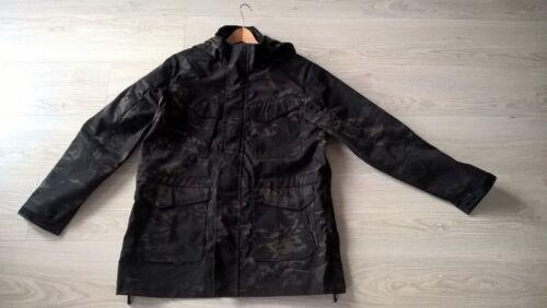 Camo militare cappuccio New Size M65 Quality Black Giacca con Excellent Large dAqwY144