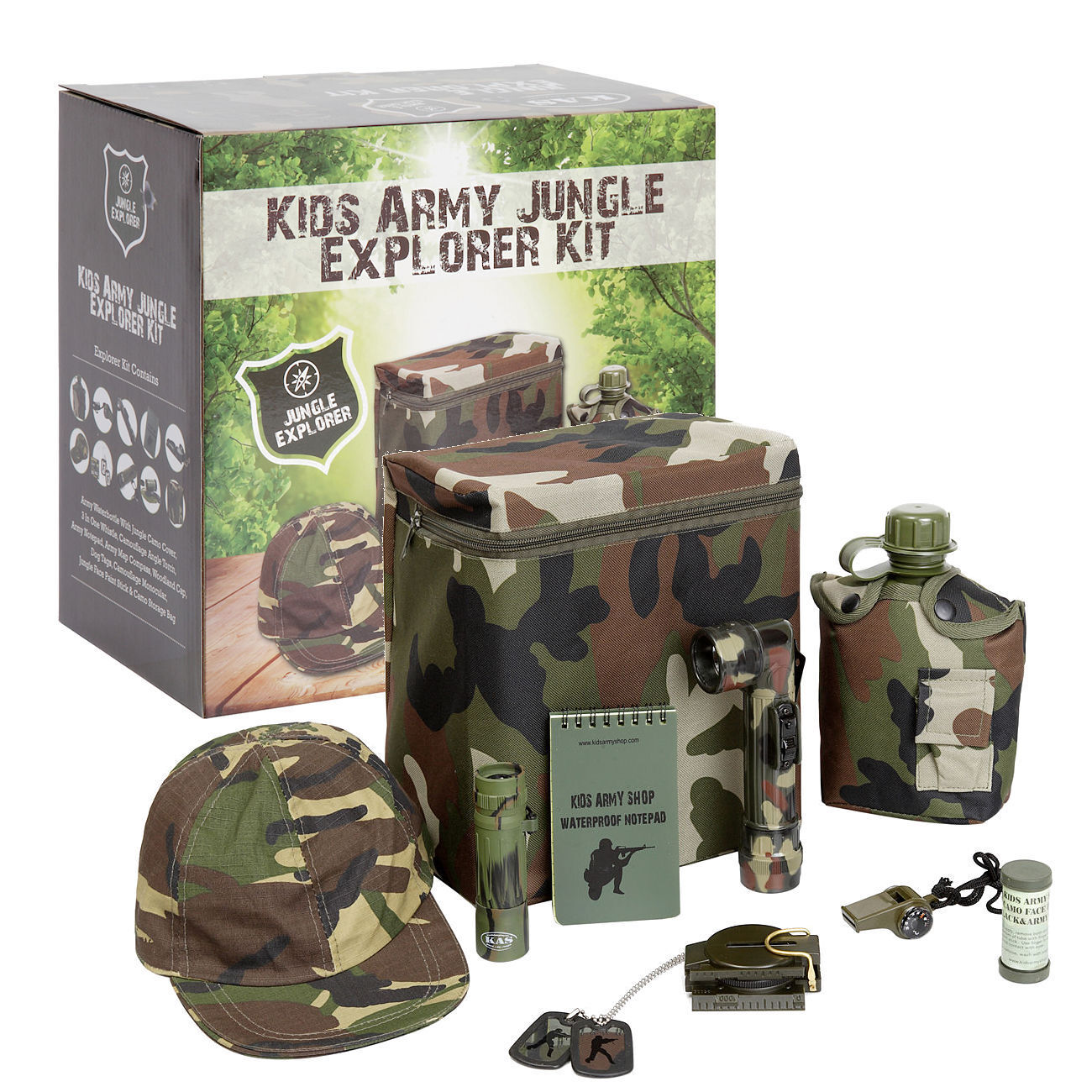 Kids Army Camouflage Jungle Explorer Kit Military Roleplay Ideal Toys Gift BINB
