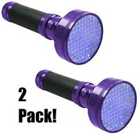 (2) Ea Ledz 900212 Scorpion Detector 100 Led Uv Blacklight Detection Flashlight