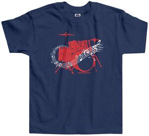Threadrock-Kids-Drum-Kit-Toddler-T-shirt-Drummer-Band-Music-Rock-N-Roll