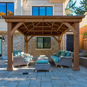 ... 12 X 12 Wood Gazebo Heavy Duty Outdoor
