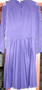 034-C-amp-A-034-Vintage-Kleid-langarm-festlich-Gr-48