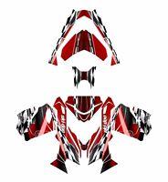 Ski Doo Rev Xs 2013 2014 2015 Graphics Sled Custom Wrap Deco Kit 2300 Red
