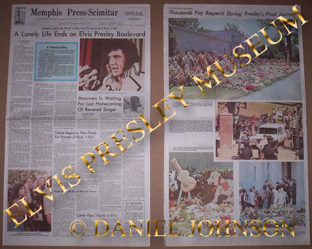 MEMPHIS PRESS SCIMITAR SPECIAL EDITION MEMPHIS TENN WEDNESDAY AUG 17th 1977 NEWS
