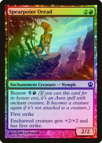 Spearpoint Oread FOIL Theros NM Red Common MAGIC THE GATHERING CARD ABUGames