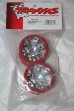 TRAXXAS - Jantes Geode 2.2  60 mm (Hex 12 mm) Plastique Chrome Blanc rouge 7172