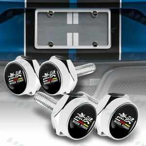 4Pcs Chevrolet Car License Plate Frame Screw Bolt Cap Cover Screw Bolts Nuts