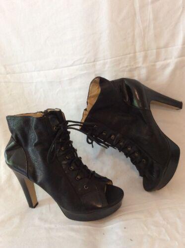 ef5e3b9a88e3fa Ankle Size 8uk Black West Leather Boots Nine nTgEBaB